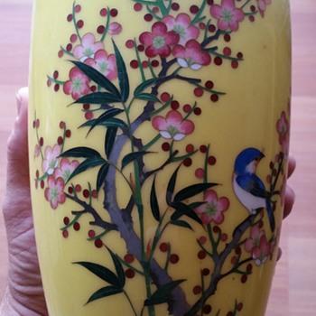 Mid Century Japanese Cloisonne Vases