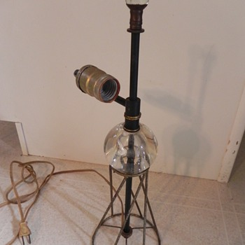 Lamp found in attic, missing shade  - Lamps