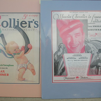 Old Magazine covers Sat Evening Post and Colliers