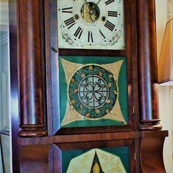 Empire Period Forestville, CT Triple Decker Sleigh-Front Clock Circa 1837 - Clocks