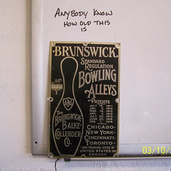 bowling tin sign - Signs