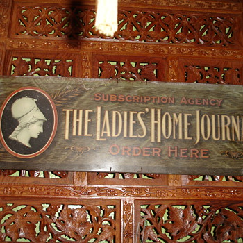 Lady's Home Journel Tin Sign - Advertising