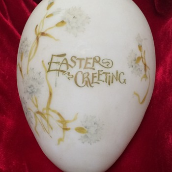 Victorian Blown Glass Easter Egg - Advertising