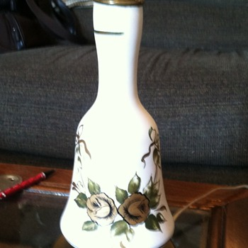 Bell Shaped Pottery Lamp Brass Base? - Lamps