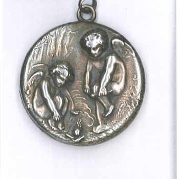 Antique Silver Locket (Mourning)
