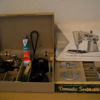 1961 Singer Rocketeer Slant-o-Matic in cabinet. - Sewing