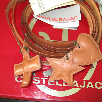 Rare Catelbajac double wrap leather charmed belt- unable to find any information