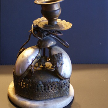 Antique Candel Holder with  Bell  Alarm ??????