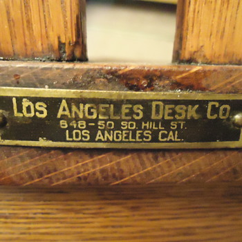 Los Angeles Desk Co. Oak Chair