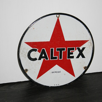 caltex sign - Petroliana