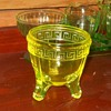L. E. Smith Glass Co Jardinere/Fern Bowl Vaseline Glass
