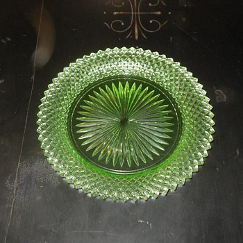 Miss America Green Bread Plates Depression Glass