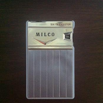 Milco six transistor radio.