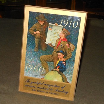 Boy Scout 50 Year Anniversary Plaque