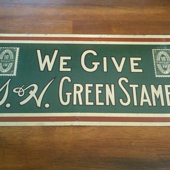 S & H Green Stamp Sign