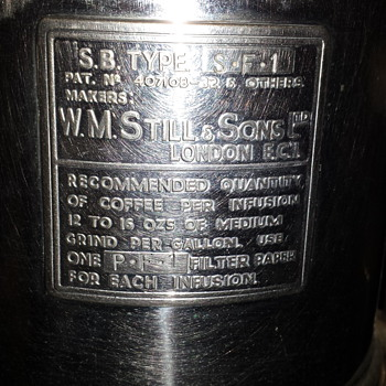 w.m still & sons coffee machine