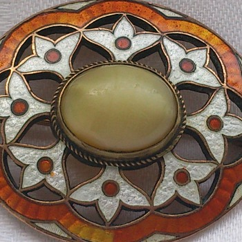 Beautiful enamel brooch