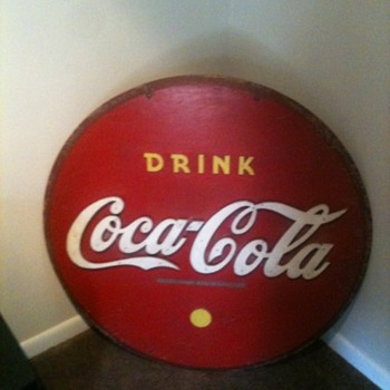 Old Wooden Coca Cola sign - Coca-Cola