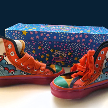 1960s Peter Max Sneakers with box - Toddler Size! - Visual Art
