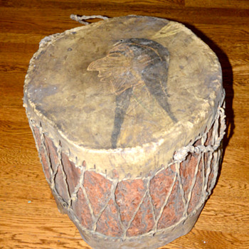 Native American Drum Redwood and Rawhide? - Native American
