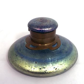 "Loetz Cobalt ""Norma"" Inkwell. Circa 1900"