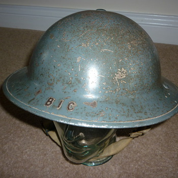WW11 British Civilian Factory Guard steel helmet