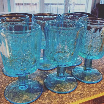 Pretty Turquoise Glass - Glassware