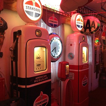 Standard Oil Theme...Martin & Schwartz gas pumps