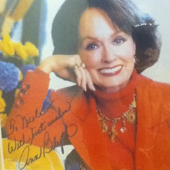 Signed Ann Blyth Photo