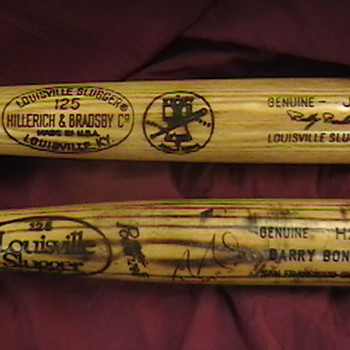 Barry Bonds & Bobby Bonds Game Used Bats