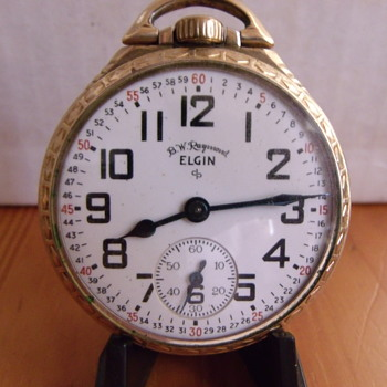 "1951 Elgin ""B W Raymond"" Railroad approved Pocket Watch - Pocket Watches"