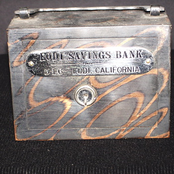 "Promotional Advertising Steel Bank""Lodi Saving Bank,Lodi,California."""