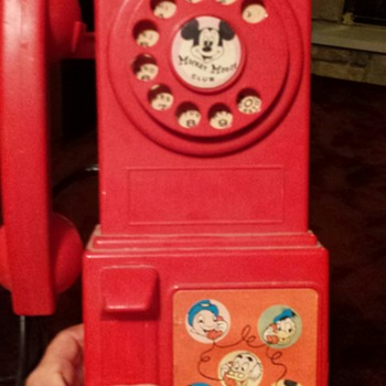 Mickey Mouse Club Phone with record player
