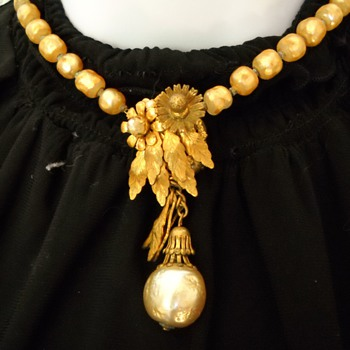 Early Miriam Haskell Faux Pearl Necklace