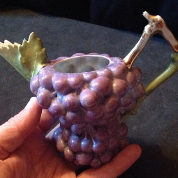 A most unusual grape jug or miniature teapot missing its lid?