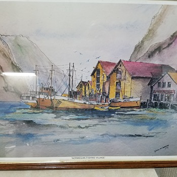 Norwegian Fishing Village - Posters and Prints