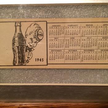 1945 coca cola calendar  - Coca-Cola