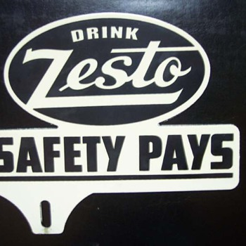 40's Zesto Soda License Plate Topper