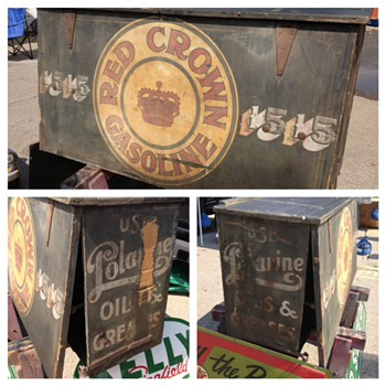 Red Crown Gasoline - Salesman's Box? - Advertising