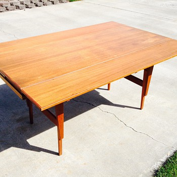 Danish Modern Teak Metamorphic Table