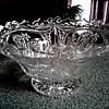 Hofbauer W. Germany Lead Crystal Dragon Bowl /Circa 1950's-60's