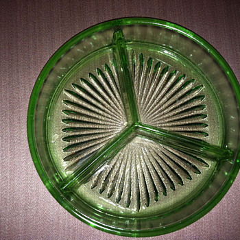 Green relish dish? - Glassware