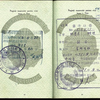 1951 North Korean Diplomatic visa - Paper