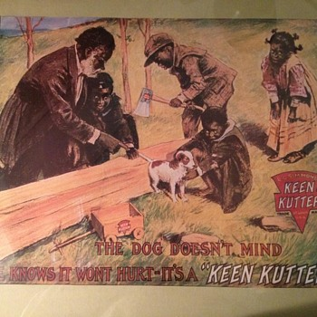 Keen Kutter Axe Decorative Printed Ad/Sign
