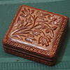 "Wooden box 5"" sq 3"" tall antique"