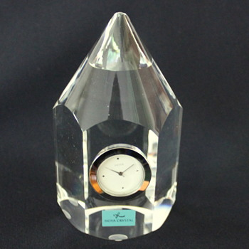 Hoya desk clock - Art Glass