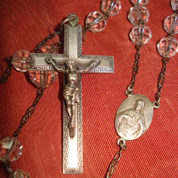 Old crystal rosary - Fine Jewelry