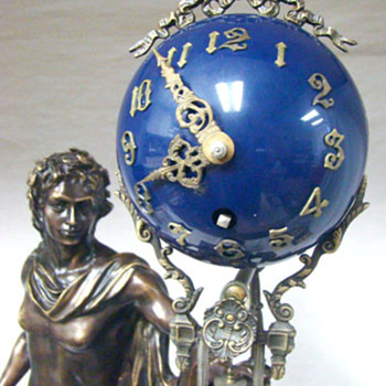 French Swinging Apollo Clock  - Clocks