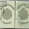 1957 DDR Diplomatic visa inside a passport