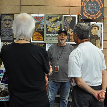 Gary Houston at TRPS Festival of Rock Posters, 10/9/10